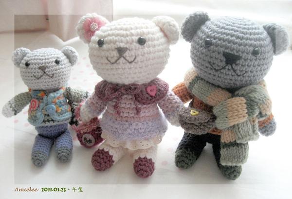 熊熊小家族(趴兔)~已售出