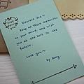 小熊代寫卡片,字好可愛