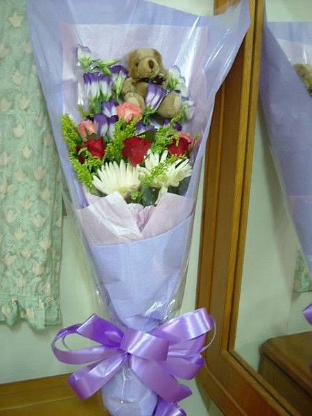范迪送的花