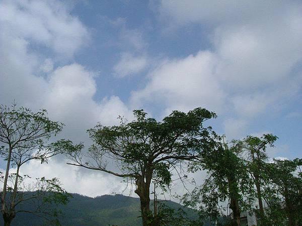 藍天白雲很大心