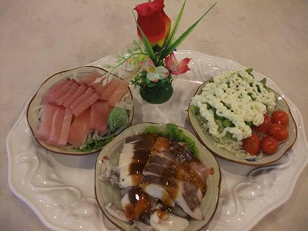 蘆筍沙拉&五味軟絲