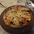 燻雞蕃茄 pizza