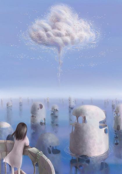 一個人....看雲