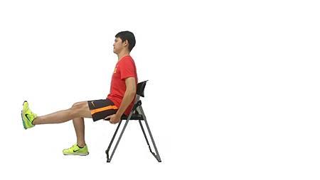座椅抬膝(直膝)