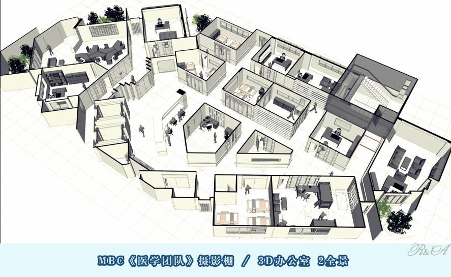 安城摄影棚3D办公室-2