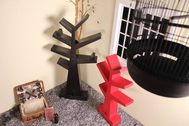 인테리어선반-더트리_블랙(큰나무),레드(작은나무)