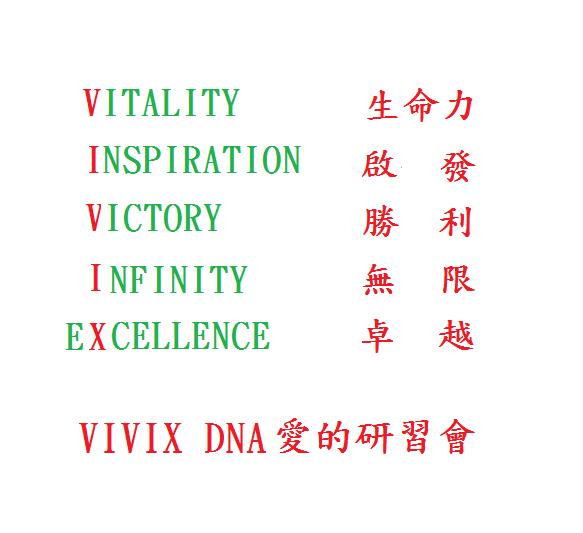 VIVIX DNA  愛的研習會