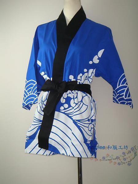 [amylee 和服工坊] 日式法背//袢天// 祭典外套~ 黑色祭 ~ L 號