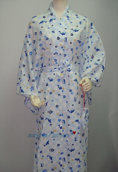 泡泡棉款浴衣