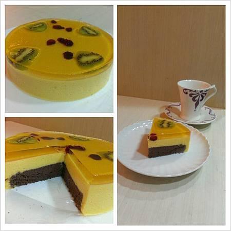 水晶芒果慕斯蛋糕
