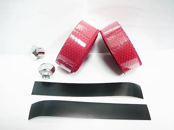 加軟木塞蛇紋複合環保材質 EVA 吸震 吸汗 把手帶/紅色