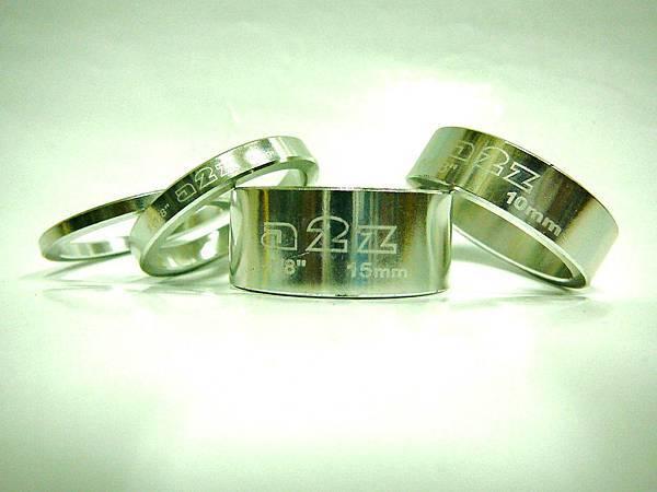 a2z 亮光銀 鋁合金龍頭墊片