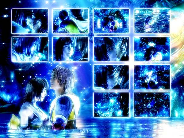 太空戰士 十 悠娜和提達在水中的畫面 2.jpg