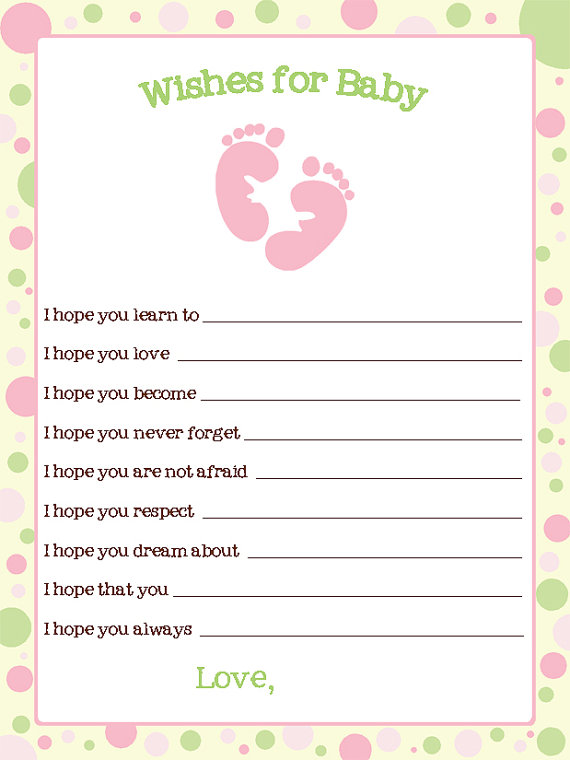 Baby Wishes Card