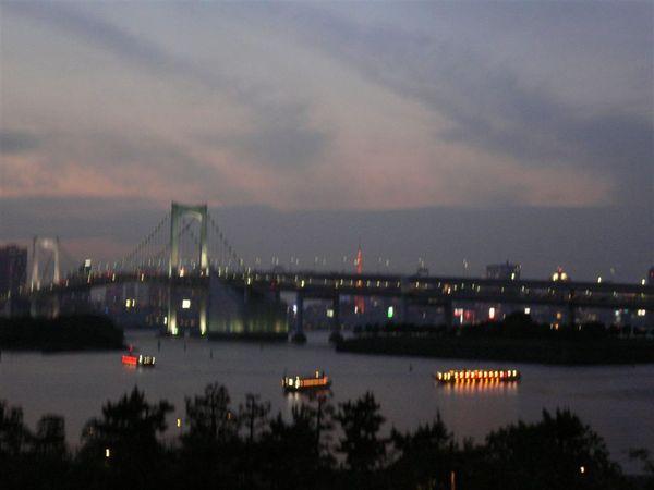 台場港邊夜景...(有晃到  =-=)