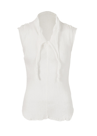 me白色皺織物包袖基本款上衣MI55FK012-m-01-dl.jpg