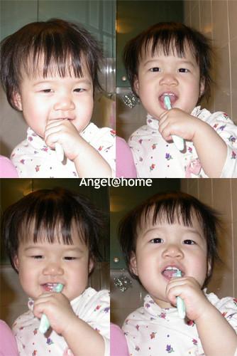 刷牙連環拍