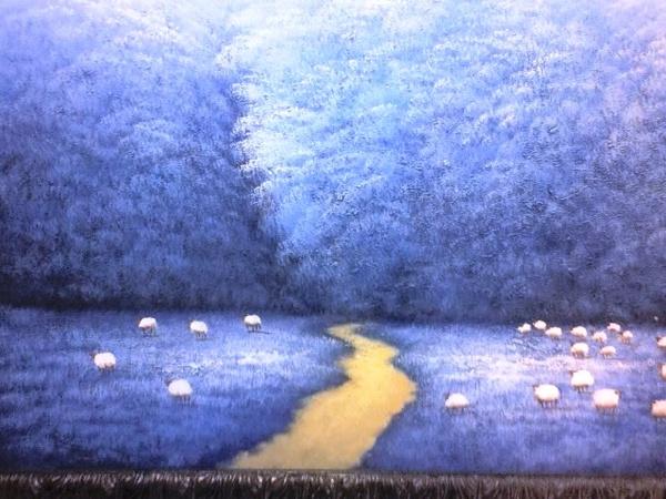 路邊看到的油畫