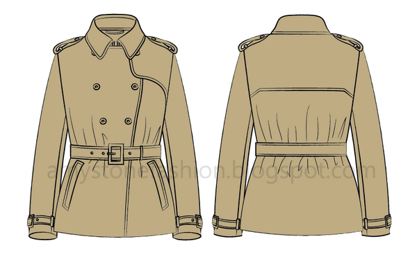 short trench coat 0137