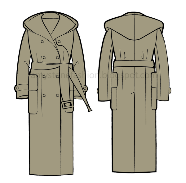 hooded overcoat 0143