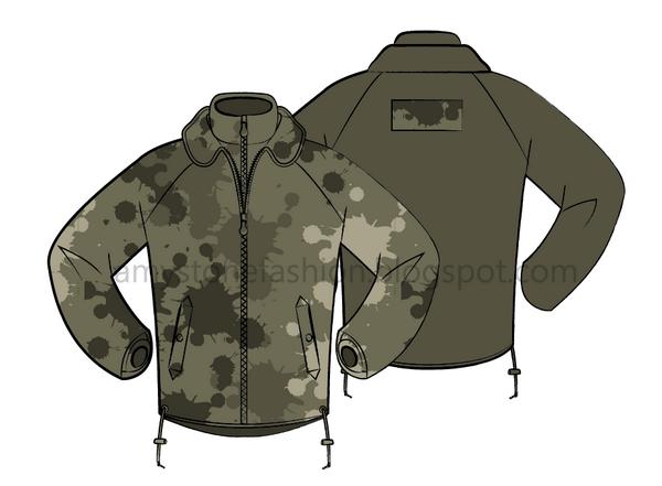 military look windbreaker jacket for man 0121