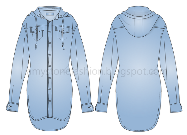 hooded denim shirt 0030