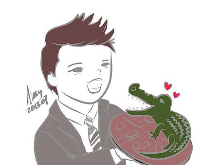 Junsu and crocodile pizza