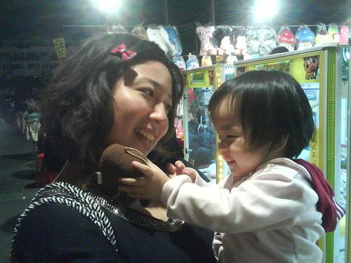 Amy阿姨夾了ㄧ個娃娃給阿筑