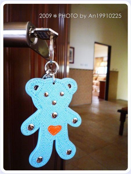 老闆娘說每個房間都有一個主題,鑰匙就隨主題搭配不同顏色的小熊