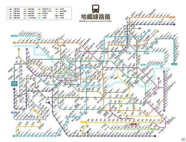 首爾地鐵線路圖(繁+韓+編號)