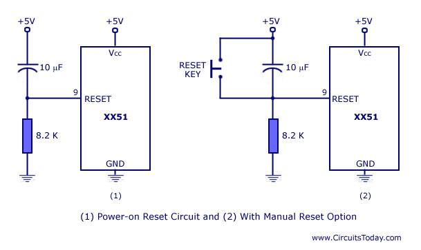 8051開機就重製電路圖