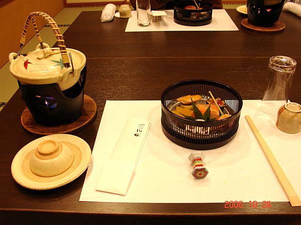 溫泉湯屋的晚餐