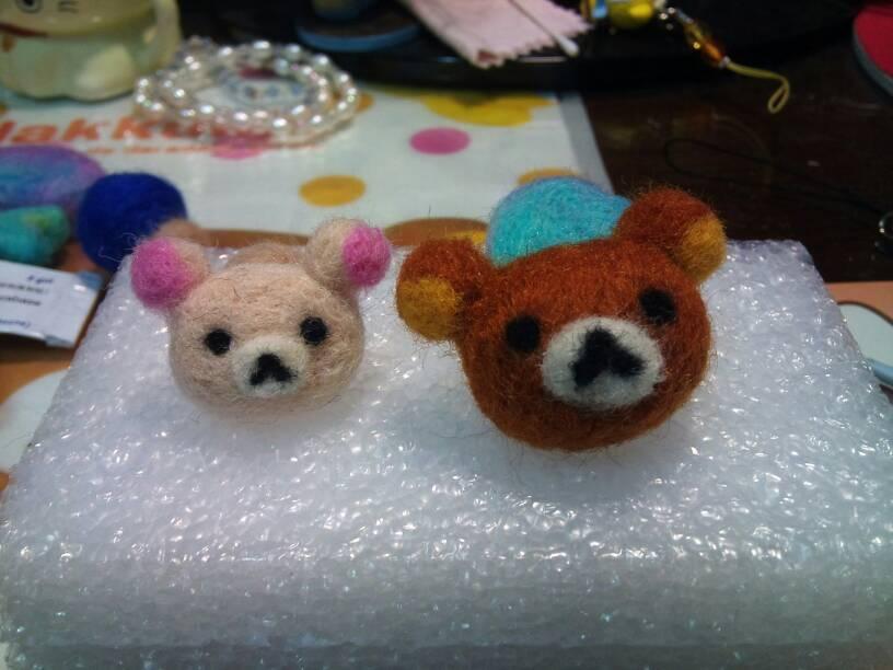 懶懶熊+牛奶妹羊毛氈