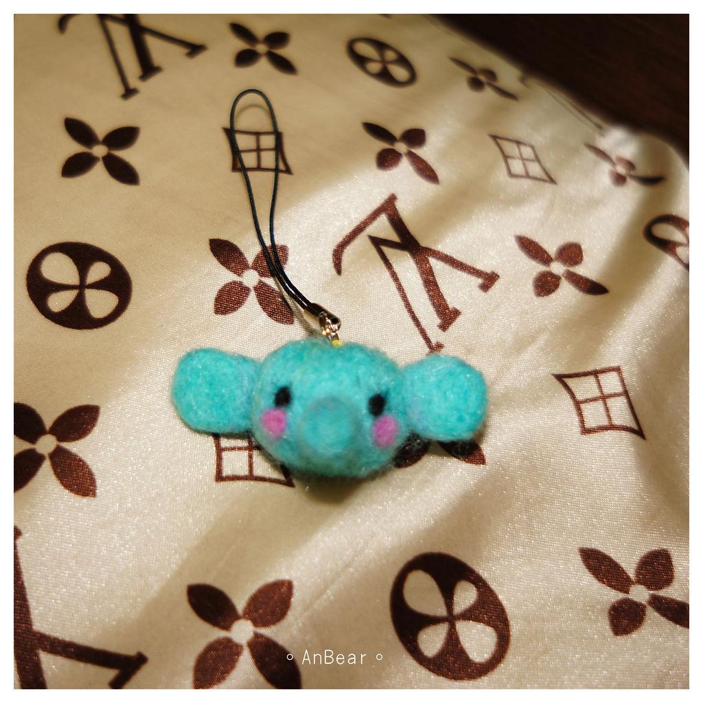 小象羊毛氈吊飾