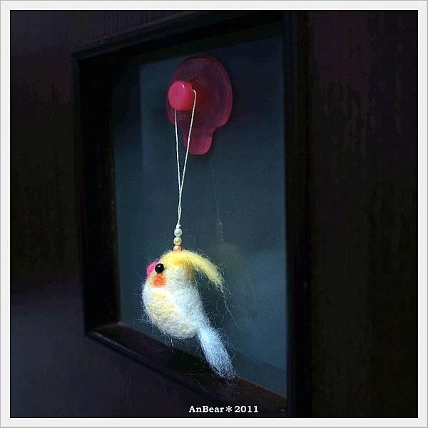 玄鳳太陽鳥羊毛氈吊飾