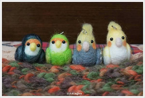 羊毛氈-鳥兒