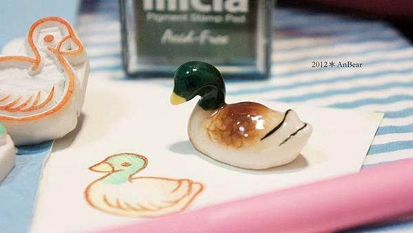 橡皮印章-綠頭鴨