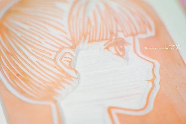 橡皮印章-新娘賀卡明信片