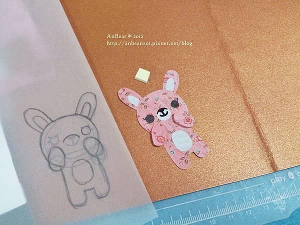 紙素材創作*小兔兒書籤小卡
