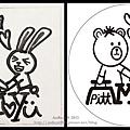 客製橡皮章*熊與兔