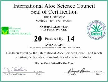 蘆薈原料擁有「IASC證書」01