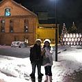 我跟India在札幌啤酒園入口