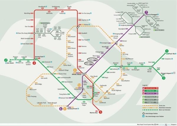 新加坡地鐵圖
