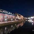 小樽運河...錯過夕陽!>_<