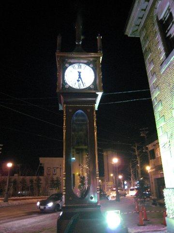 小樽知名的銀星堂蒸氣鐘