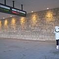 函館JR車站牆壁的雕刻