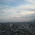 可以看到函館市景