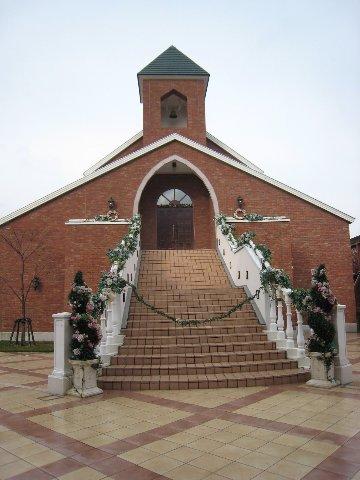 金森倉庫裡辦婚禮的地方...很漂亮唷~