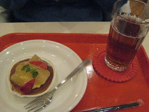 India的梨子塔+冰紅茶
