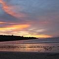 金巴蘭海灘美麗的夕陽